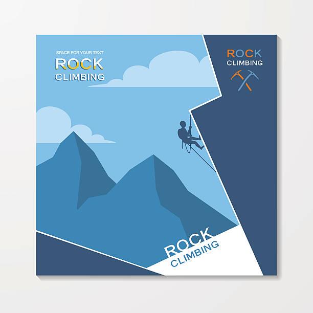 rock climbing flyer template - rock climbing stock illustrations, clip art, cartoons, & icons