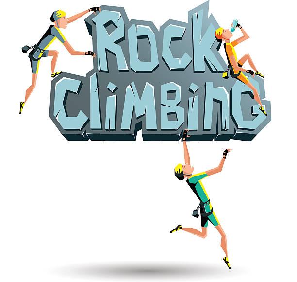 ロッククライミングの言葉に集中的にロック - ロッククライミング点のイラスト素材/クリップアート素材/マンガ素材/アイコン素材