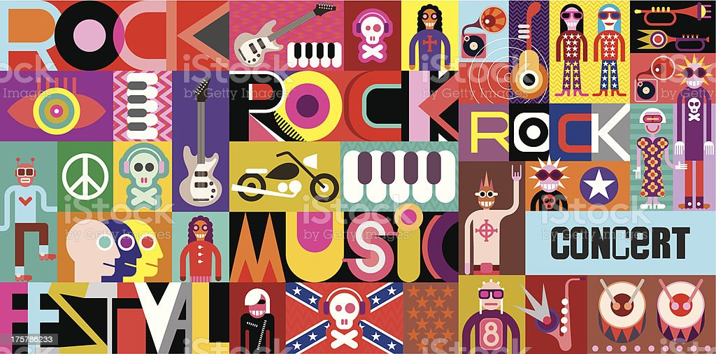 Rock Concert Poster royalty-free rock concert poster stock vector art & more images of abstract
