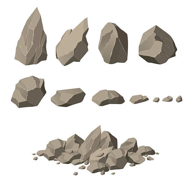 skała elementy - skała stock illustrations