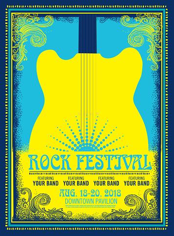 Rock festival poster advertisement