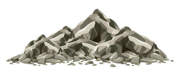 Rock formation Rock formation on a white background rock formations stock illustrations