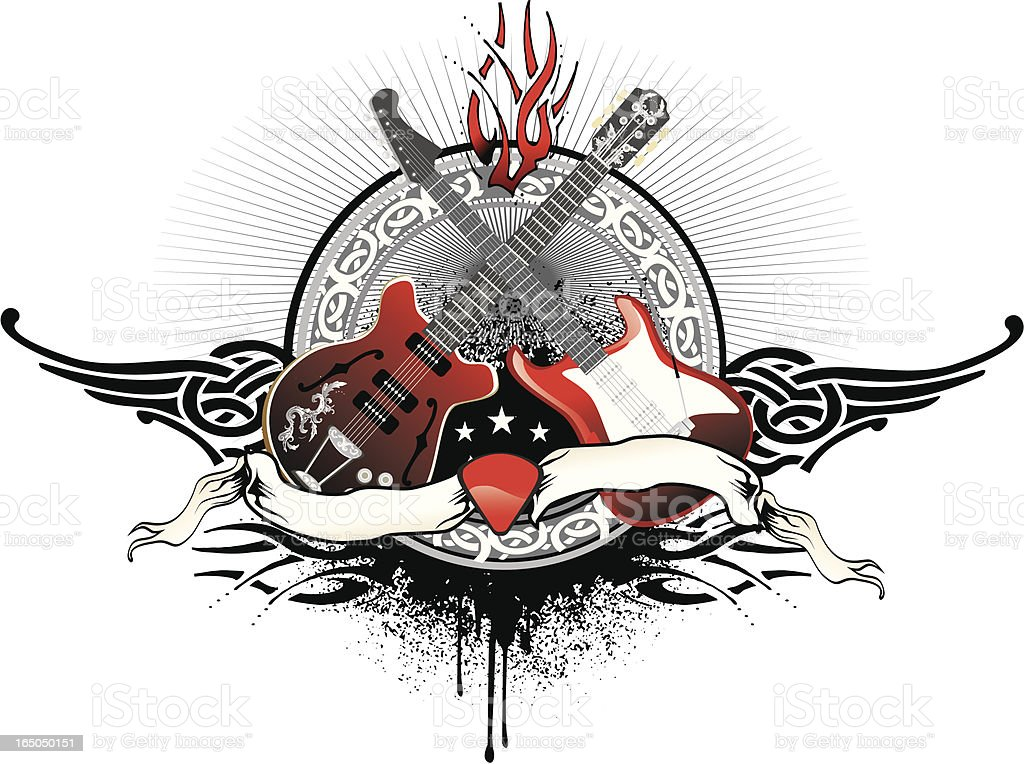 rock guitar duel royalty-free stock vector art