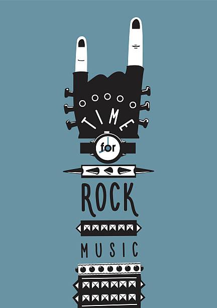 Rock la main - Illustration vectorielle