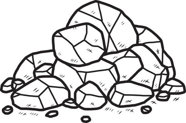 rock heap - pebbles stock illustrations, clip art, cartoons, & icons