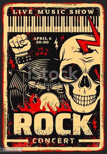 Rock music festival concert vector poster
