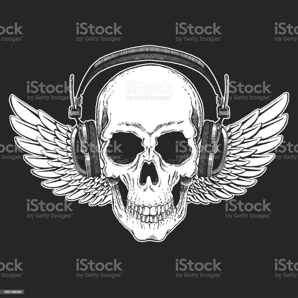 Cool Print For Poster Banner T Shirt Skull