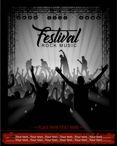 illustrazioni stock, clip art, cartoni animati e icone di tendenza di festival di musica rock - concerto