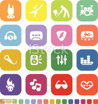 Vector File of Rock Music Icon Set