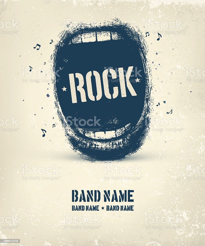 Rock Music Poster vector art illustration