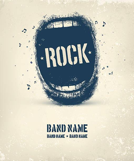 rock music poster - rock n roll stock illustrations, clip art, cartoons, & icons