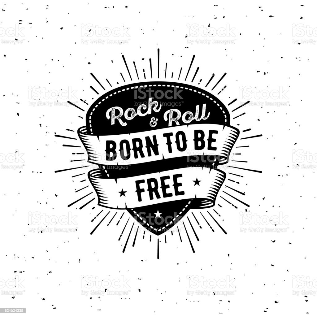 Rock n Roll born free royalty-free rock n roll born free stock illustration - download image now
