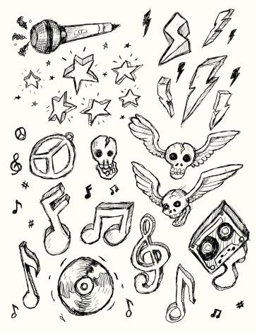 Rock N Roll Doodles