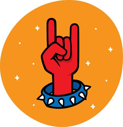 Rock N Roll Hand Doodle 1