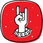 istock Rock N Roll Hand Doodle 2 1265294709