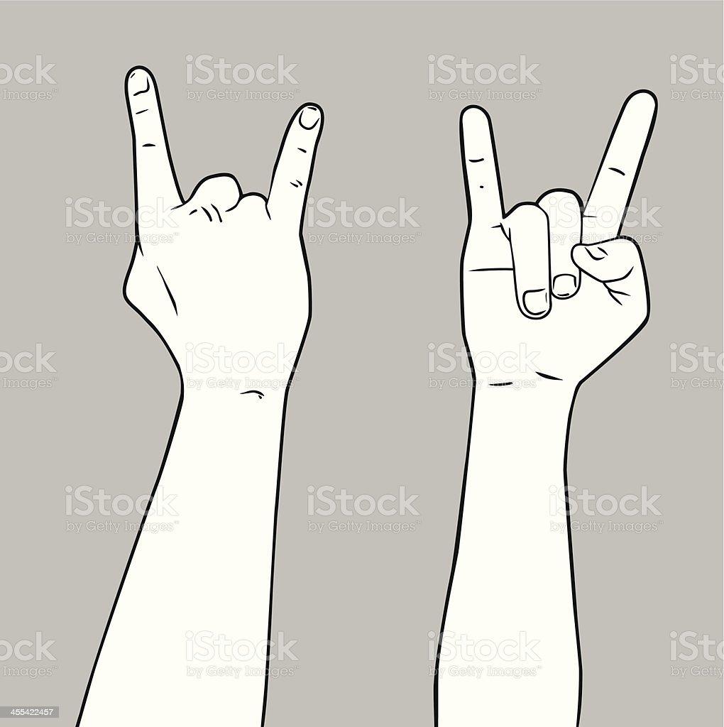 Rock n' Roll Hand vector art illustration