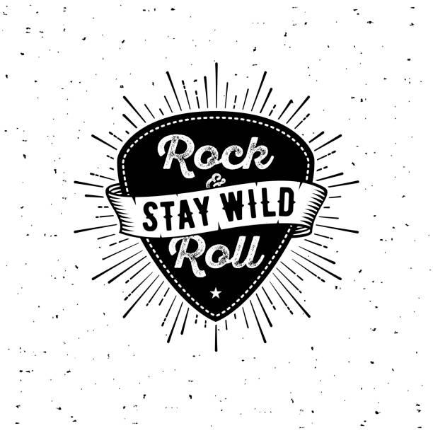 rock n roll white - gitara stock illustrations