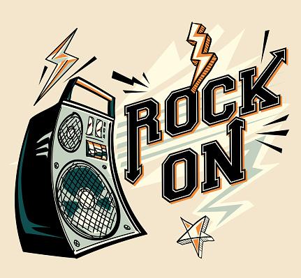 Rock on - music design with loudspeaker