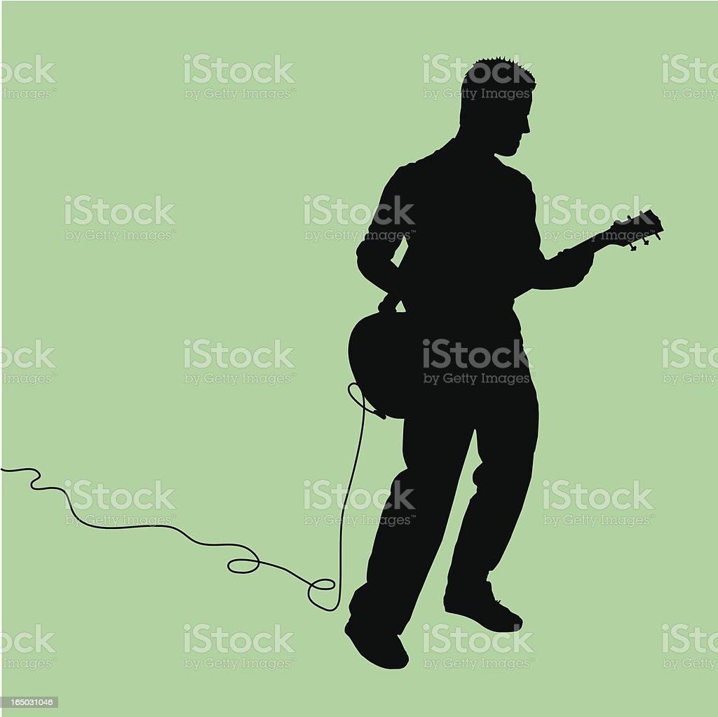 Rock Out! Guitarist Jammin' vector art illustration