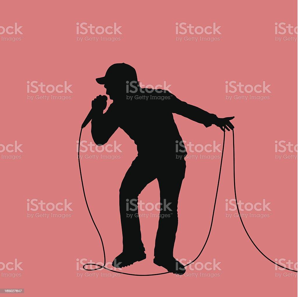 Rock Out Lead Singer 05 Stock Illustration - Download Image
