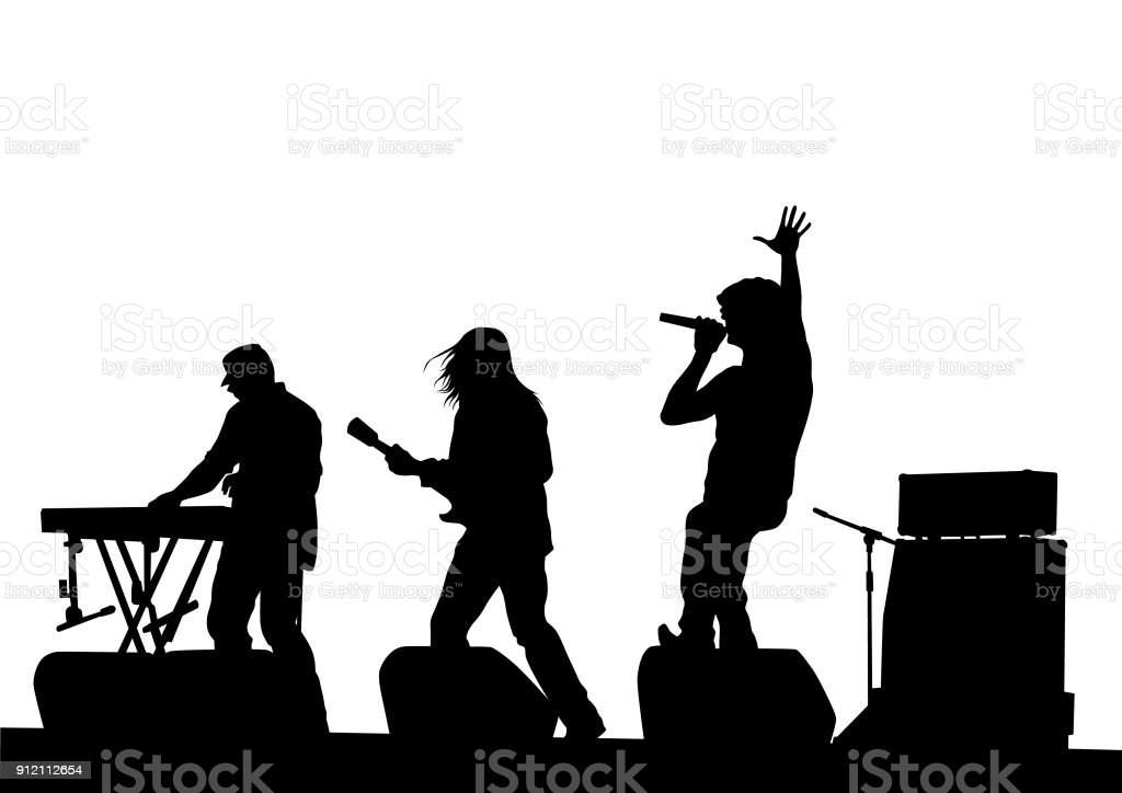 royalty free rock band clip art vector images illustrations istock rh istockphoto com rock band stage clipart cartoon rock band clipart