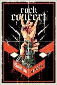 Rock concert poster , eps9