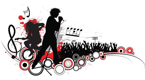 Rock Pokaż – artystyczna grafika wektorowa