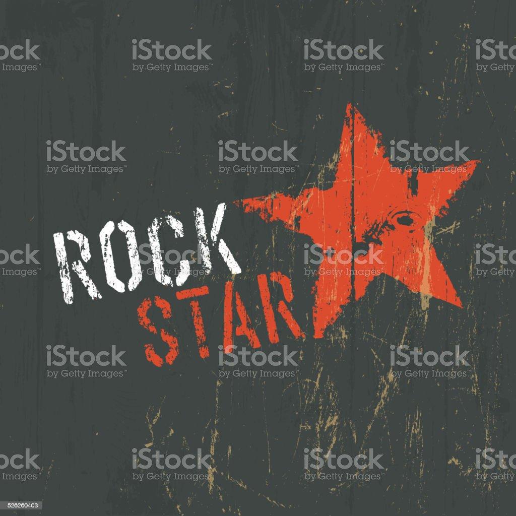 Rock Star Illustration. Vector vector art illustration