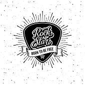 istock Rock Star Plectrum Ribbon White Vector illustration 1216574127