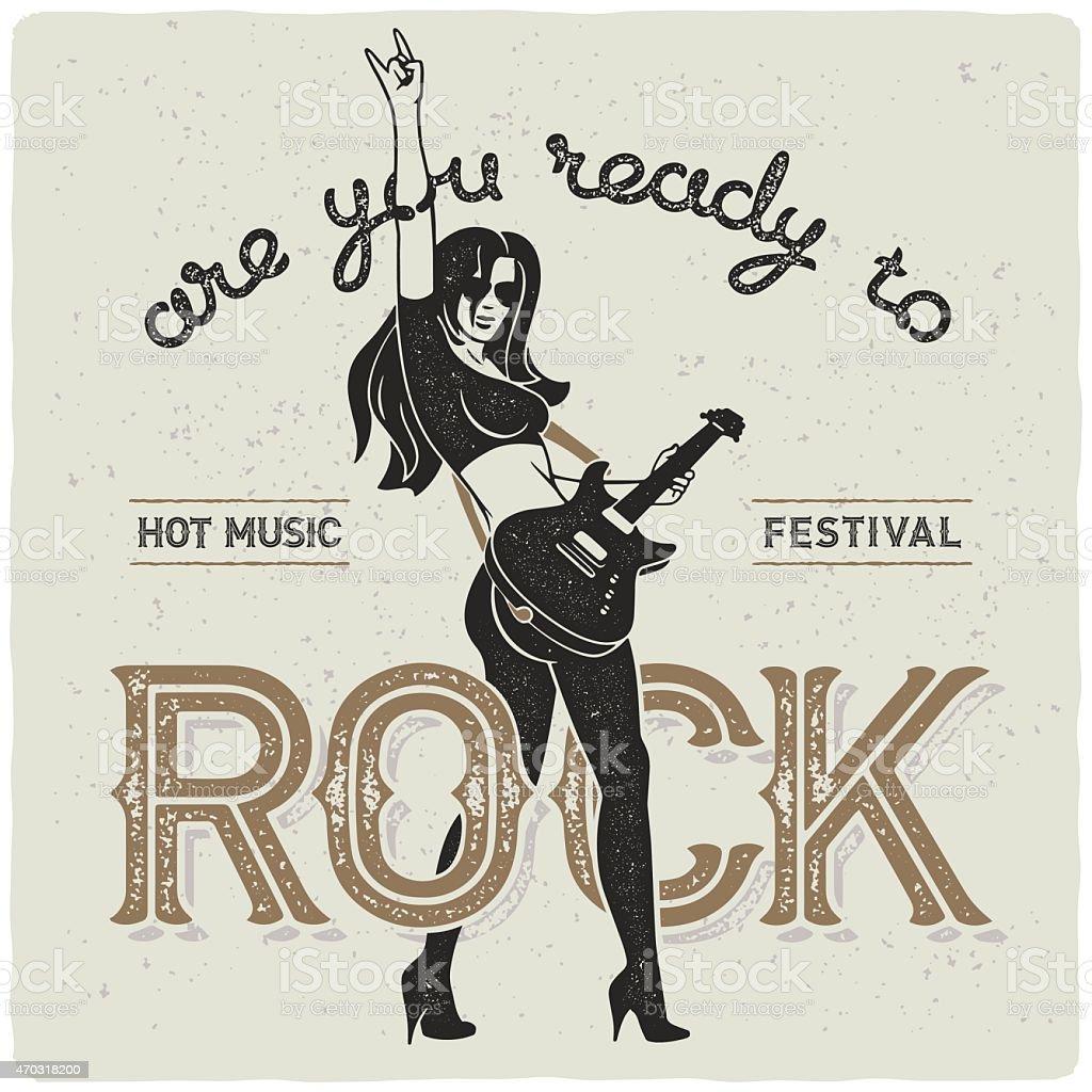 Rock Star Returns vector art illustration