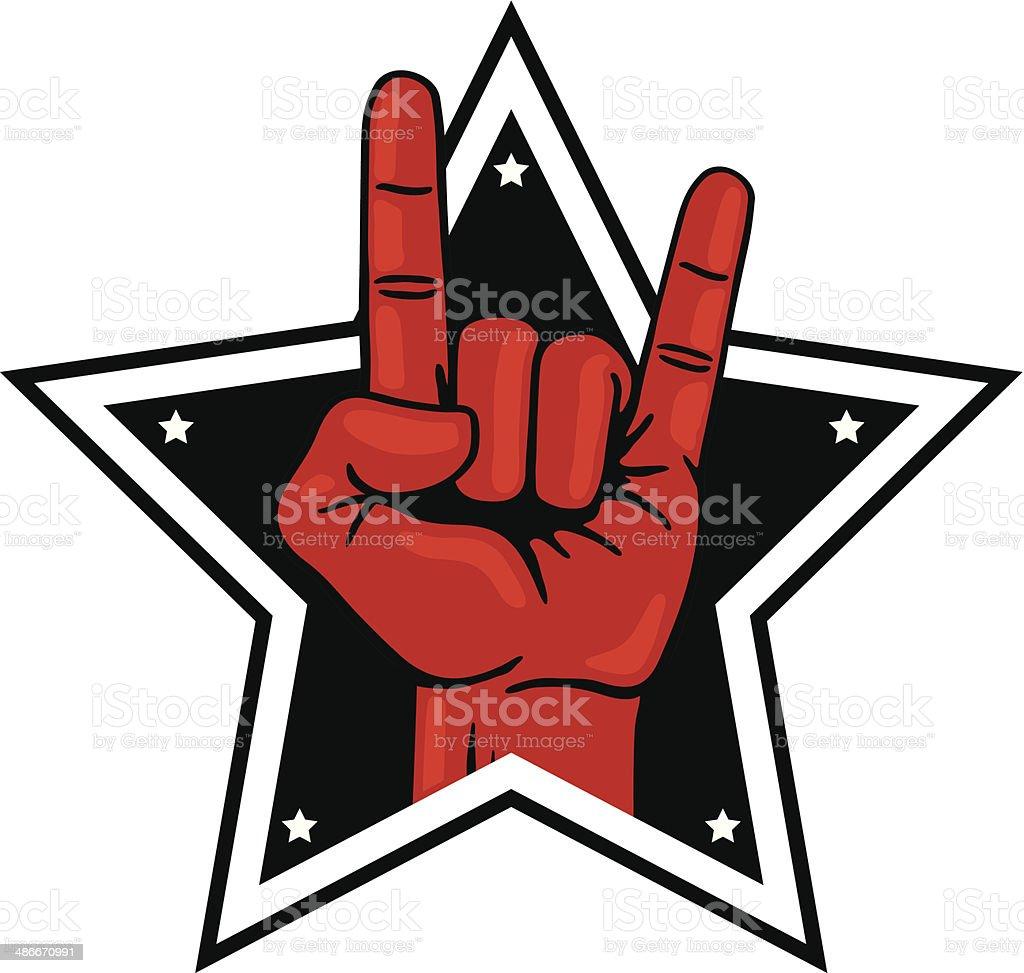 Rock Star vector art illustration