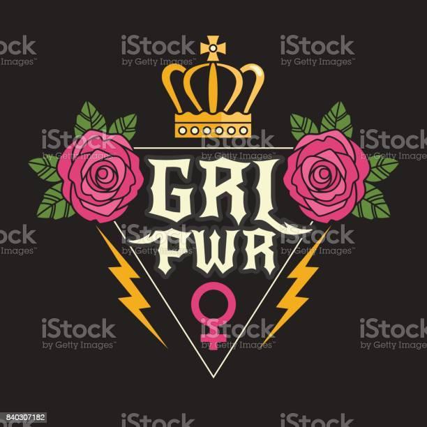 Rock style girl power tshirt print vector id840307182?b=1&k=6&m=840307182&s=612x612&h=zmxwfjgflneyrjj5ojlei1isktztdqto4nfibkrkkdw=