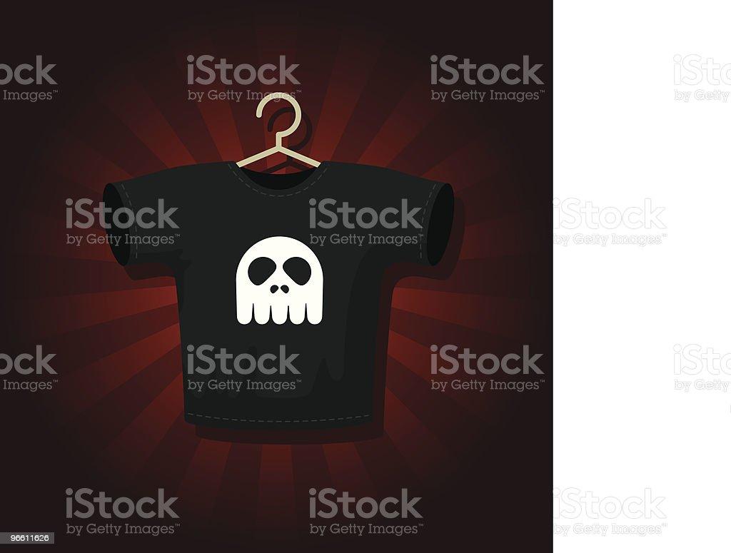 Rock T-shirt - Royaltyfri Framför vektorgrafik