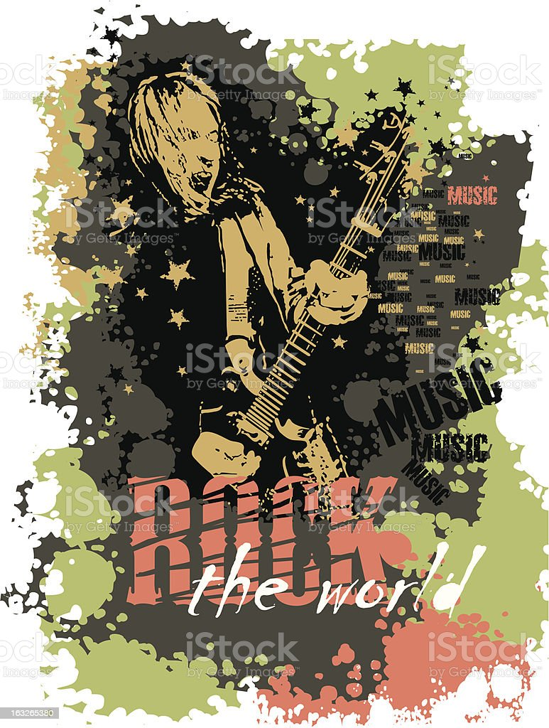 Rock royalty-free stock vector art