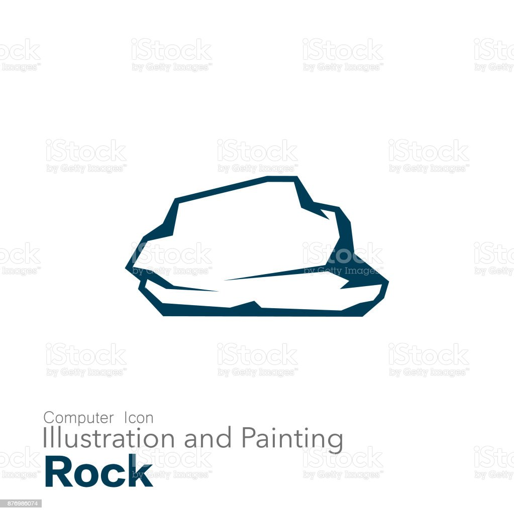 rock vector art illustration