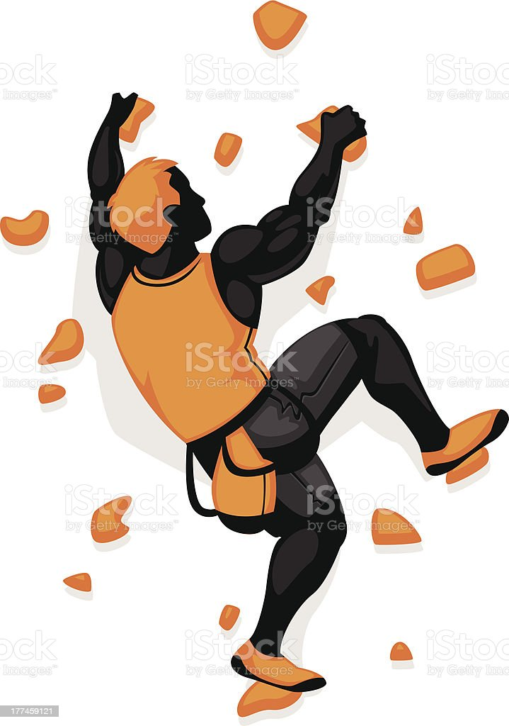 rock wall climber stock vector art more images of adult 177459121 rh istockphoto com rock climbing clipart black and white rock climbing clipart free
