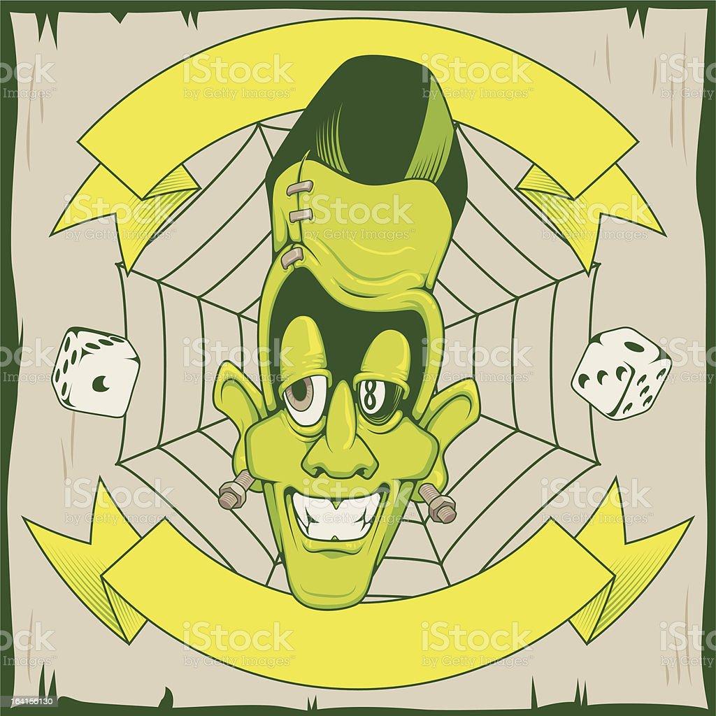 Rockabilly Monster royalty-free stock vector art