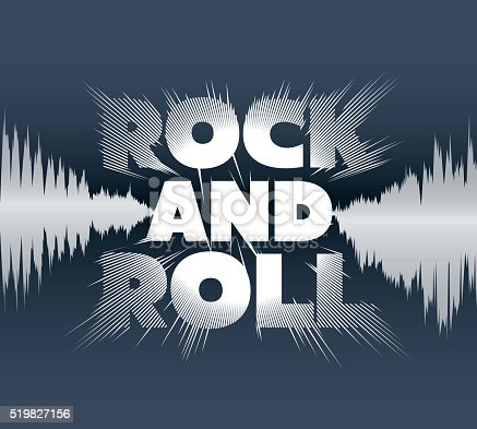 istock Rock-and-roll lettering 519827156