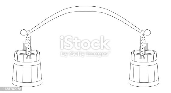 Vector illustration of rocker. Isolated on white background. Can be used for graphic design, textile design or web design.