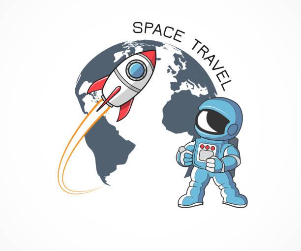Raketen- und astronaut – Vektorgrafik