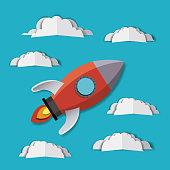 rocket and clouds Digital Crafts