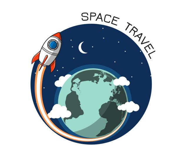 Rakete und Erde 2 – Vektorgrafik