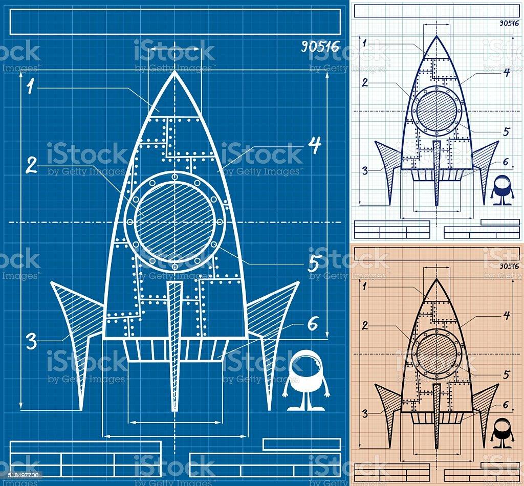 Rocket blueprint cartoon stock vector art more images of rocket blueprint cartoon royalty free rocket blueprint cartoon stock vector art amp more images malvernweather Choice Image
