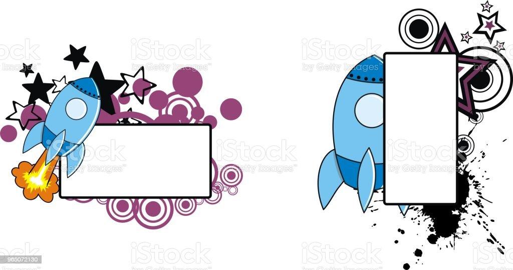 rocket cartoon copyspace set0 rocket cartoon copyspace set0 - stockowe grafiki wektorowe i więcej obrazów abstrakcja royalty-free