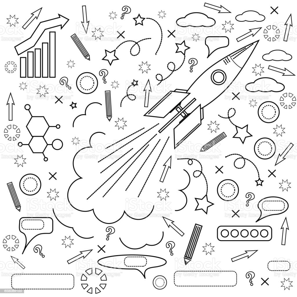 Rocket Icon. Concept of Success, Initiatives royalty-free rocket icon concept of success initiatives stock vector art & more images of advice