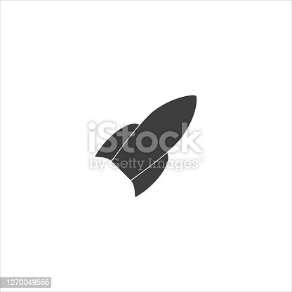 istock rocket icon on white background. EPS 10 vector 1270049555