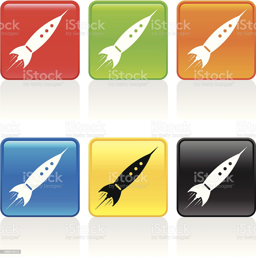 Rocket Icon royalty-free stock vector art