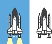 Rocket vector icon. Files included: Vector EPS 10, JPEG 4000 x 3000 px, transparent PNG, AI 17
