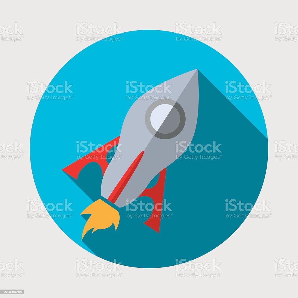rocket icon vector art illustration