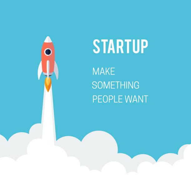 illustrations, cliparts, dessins animés et icônes de écran de démarrage concept de lancement designt affaires - décoller activité